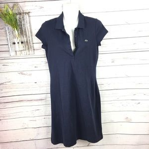 Lacoste Navy blue Polo shirt dress 38